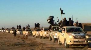 Caravana de milicianos del EI en la ciudad siria de Raqqa / GTRES
