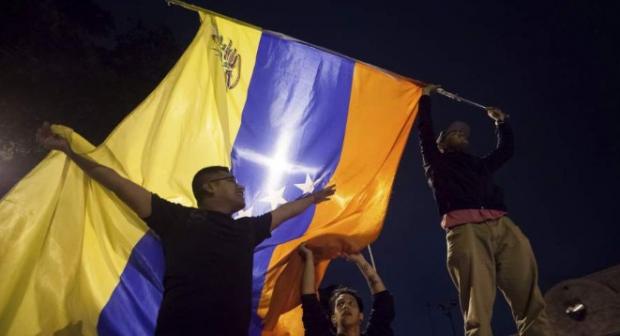 Opositores al gobierno chavista festejan el triunfo del domingo. EFE/Miguel Gutiérrez