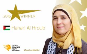 Hanan Al-Hroub se crió en el campamento de refugiados de Dheisha (Belén) / Varkey Foundation