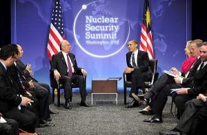 Barack Obama con el primer ministro de Malasia, Najib Tun Razak.