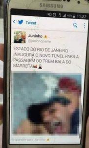Imagen que subió en Twitter uno de los implicados de la violación en Brasil / 20 Minutos