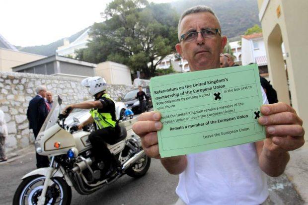 En Gibraltar el 95% de los votantes optó por quedar dentro de la Unión Europea. EFE