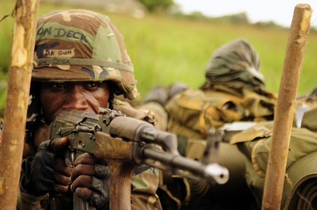 Soldado Liberia UNMIL