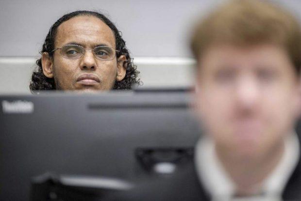 El acusado Ahmad al Mahdi al Faqi comparece ante la CPI en la Haya