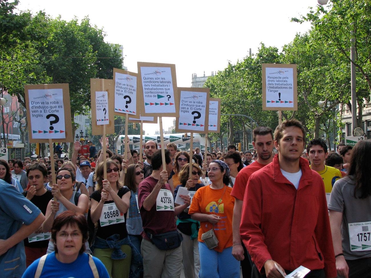 Protesta contra El Corte Inglés / Setem