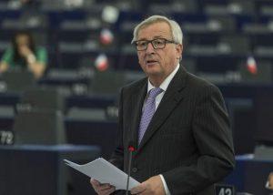 El presidente de la CE da un discurso en el Parlamento, en Estrasburgo. (Patrick Seeger/EFE)