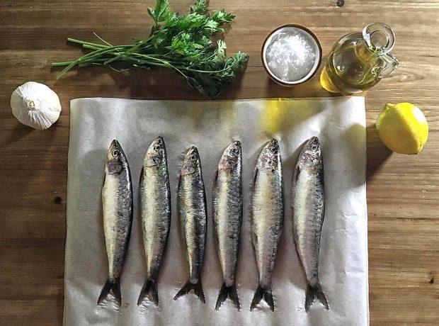 Receta de sardinas al horno enteras