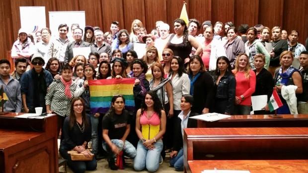 Miembros de la Federación Ecuatoriana de Organizaciones LGBT