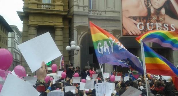 Foto de Stefano Bianchi de la manifestación del pasado 23 de enero en Florencia (vía Facebook)