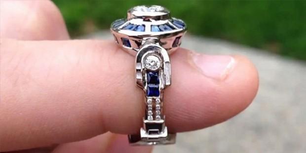 Star Wars R2D2 anillo de compromiso
