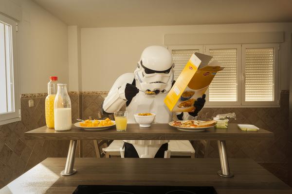 Stormtroopers desayuno cn cereales