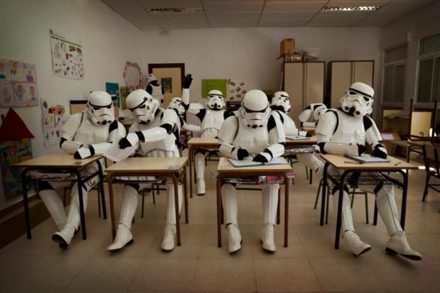 Stormtroopers en el colegio