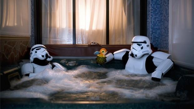 Stormtroopers en el jacuzzi
