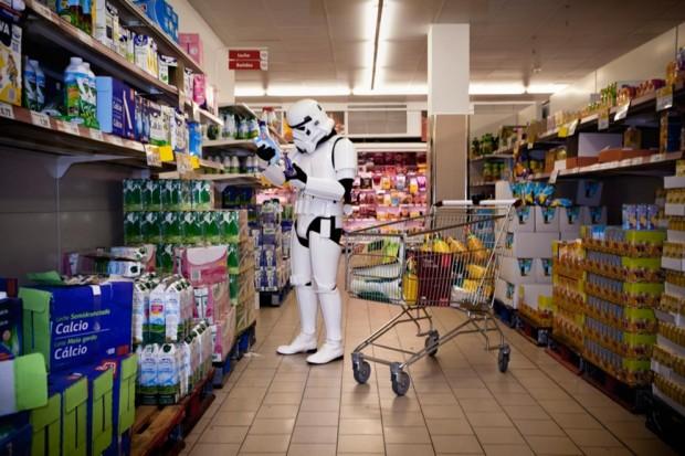 Stormtroopers en el supermercado