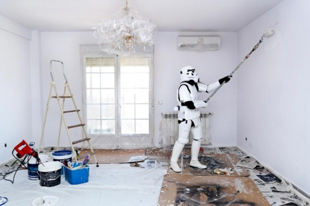 Stormtroopers pintando