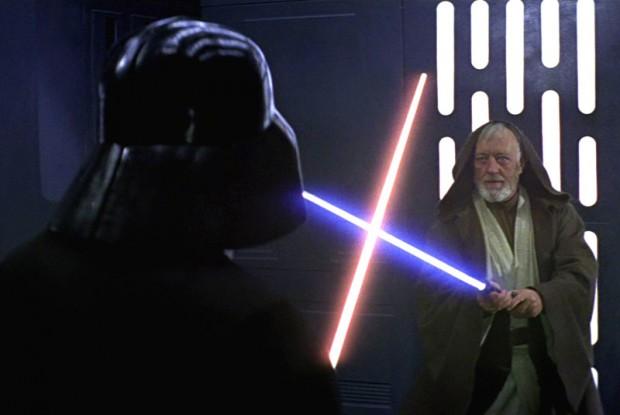 Star Wars duelo con espadas laser