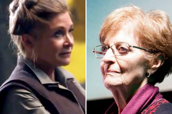 Carrie Fisher (Leia) - Maria Luisa Solá