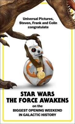 Jurassic Word vs BB-8 congratulation