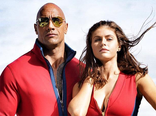The Rock, Alexsandra Daddario (Baywatch)