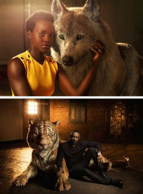 Lupita e Idris Elba El libro de la selva
