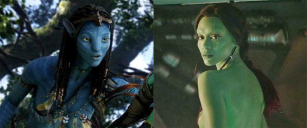 Avatar / Guardianes de la galaxia - Zoe Saldana