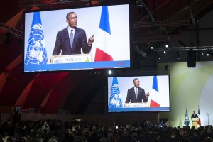Barack Obama, pronuncia un discurso durante la sesión inaugural de la cumbre del Clima (COP 21)