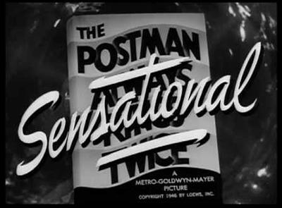 (El cartero siempre llama dos veces, 1946 / MGM)