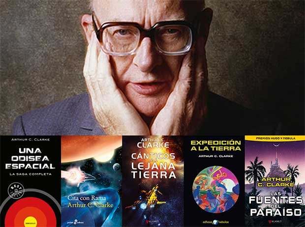 Cinco títulos de Arthur C. Clarke