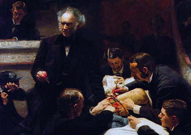 (La clínica Groos, 1875 / Thomas Eakins)
