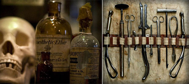 Herramientas de cirugía victorianas