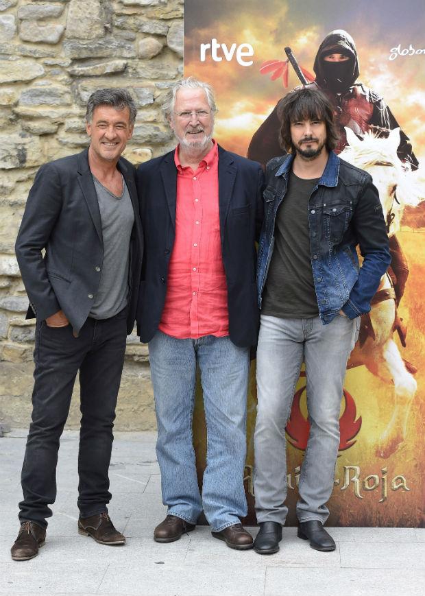 Francis Lorenzo, Xabier Elorriaga y David Janer en la presentación de la séptima temporada. (GTRES)