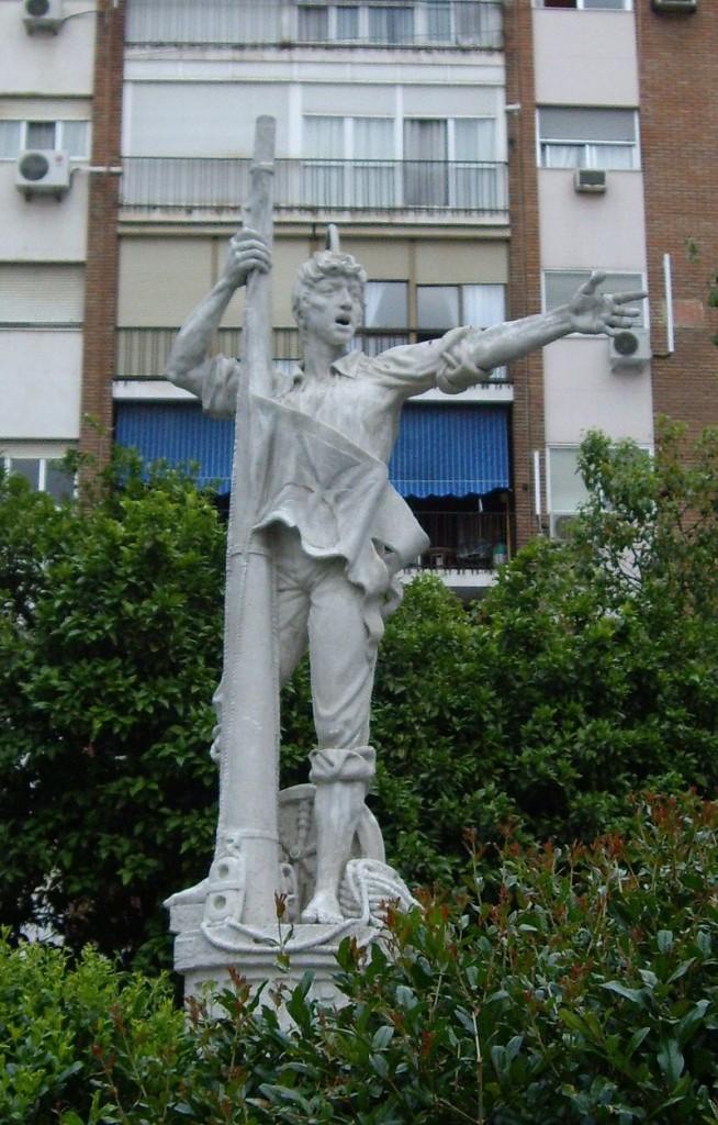 Estatua de Rodrigo de Triana de 1973 en Sevilla. (CarlosVdeHabsburgo , Wikimedia Commons)