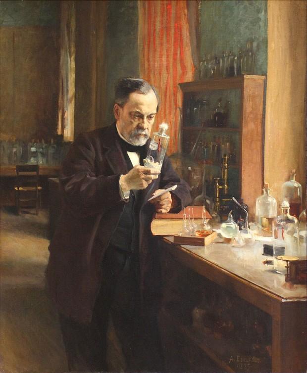 Estudio de microbiología de Pasteur.  Albert Edelfelt. (Dominio público)