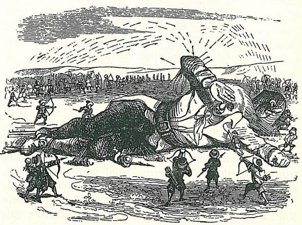 Ilustración de 'Los viajes de Gulliver'. (Creative Commons)
