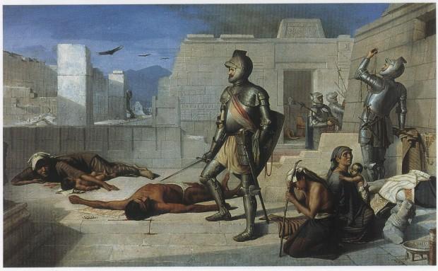 Felix Parra Episodios de la conquista La matanza de Cholula (CReative commons).