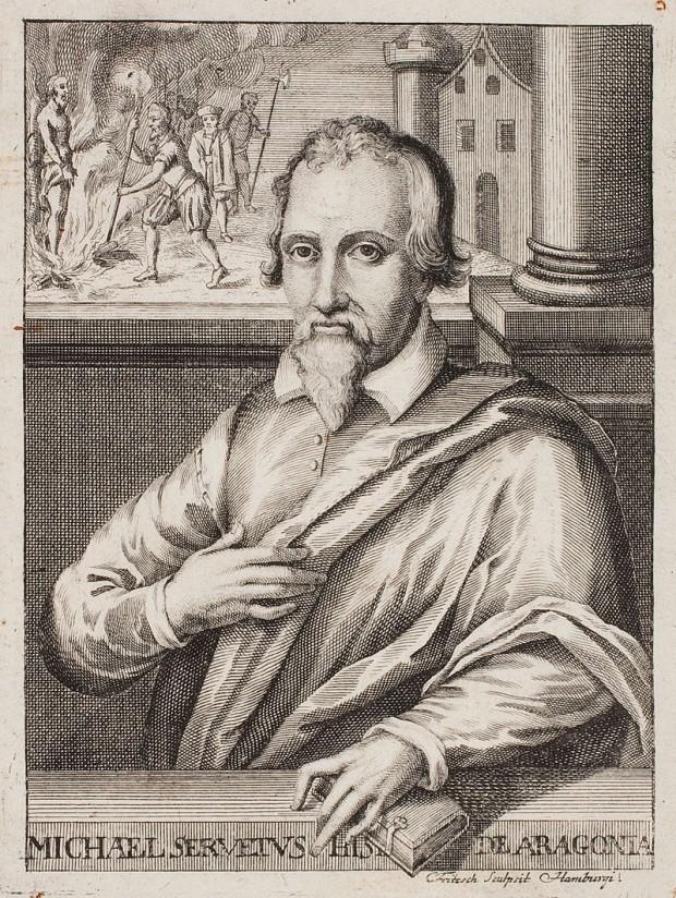 Michael Servetus, por Christian Fritzsch en torno a 1660. (Dominio Público).
