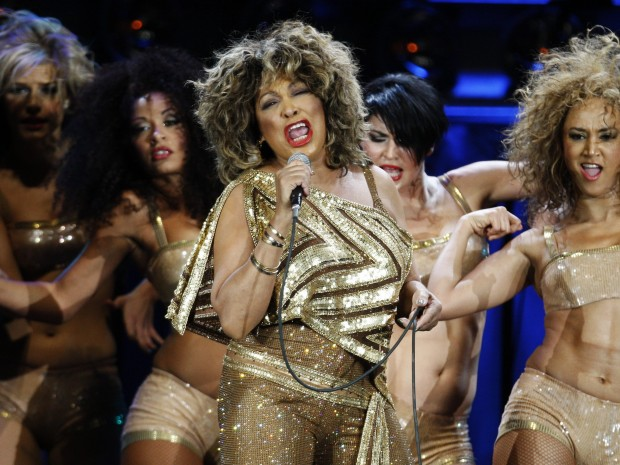 U.S. singer Tina Turner performs on stage during her concert at the Hallenstadion venue in Zurich, Switzerland, Sunday, Feb. 15, 2009.
