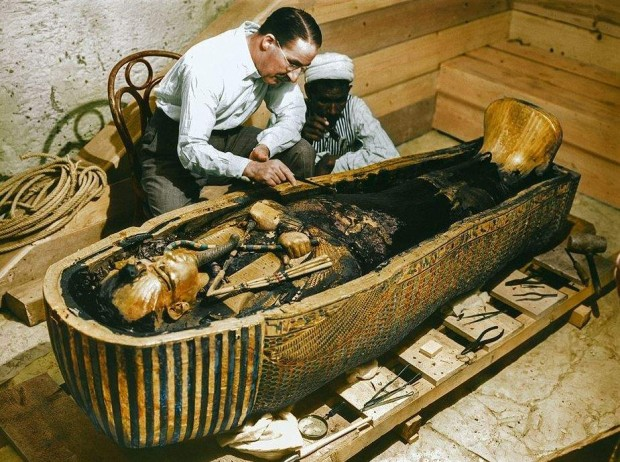 Imágenes coloreadas del descubrimiento de la tumba del faraón Tutankamon (Dynamichrome).