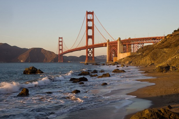 El puente Golden Gate en San Francisco, visto desde Baker Beach (Creative Commons).