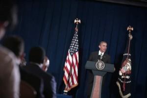 El presidente de EE UU, Barack Obama, durante una rueda de prensa en Malasia en el marco de la cumbre de la Asociación de Naciones del Sudeste Asiático (ASEAN).
