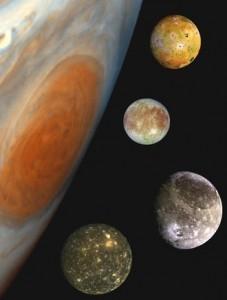 Los satélites gLos satélites galileanos de Júpiter.elileanos.