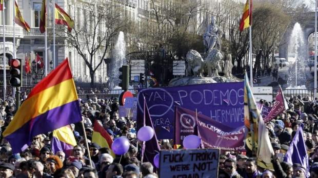 Imagen de la Marcha por el Cambio, el 31 de enero de 2015 (EFE).