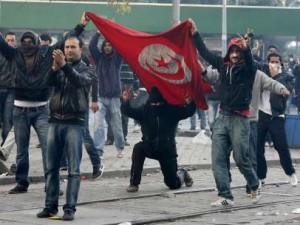 Protestas en Túnez.