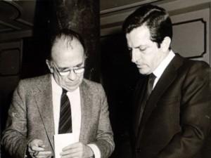 Adolfo Suárez y Santiago Carrillo.