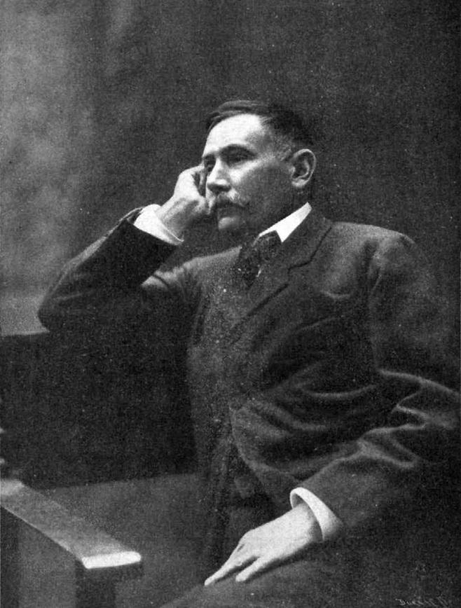 Benito Pérez Galdós, fotografiado por Christian Franzen (Dominio Público).