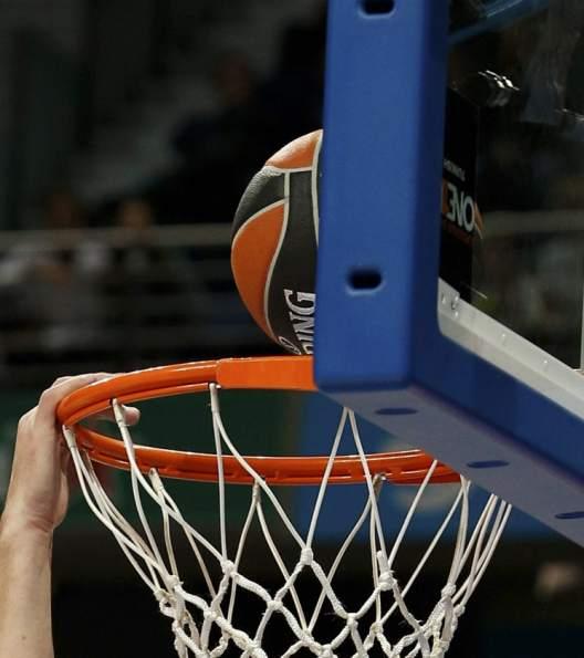 Un balón de baloncesto, en el momento de entrar en la canasta (Gtres).
