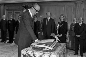 El Presidente jurando en cargo, en el Palacio de la Zarzuela (Archivo).