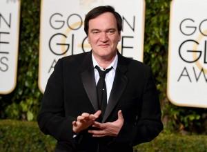 El director de cine Quentin Tarantino, en los Globos de Oro 2016 (Gtres).