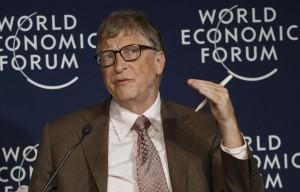 Bill Gates durante una intervención en el Foro Económico Mundial de Davos (Gtres).