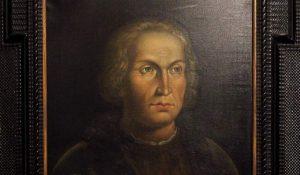 Retrato de Cristóbal Colón expuesto en la Casa de Colón de Gran Canaria (EFE).